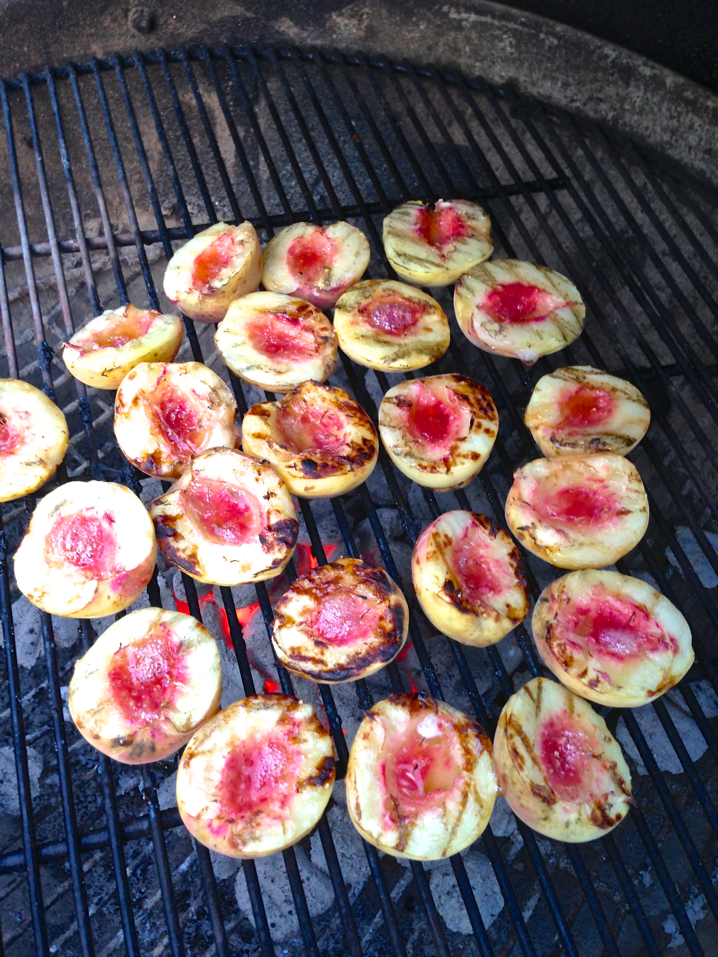 Grilled White Peaches