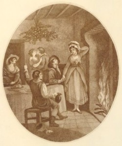 under-the-mistletoe-a-19th-century-scene
