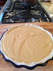 'pumpkin pie' from hubbard squash