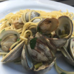 Spaghetti With Clams And Garlic Scapes