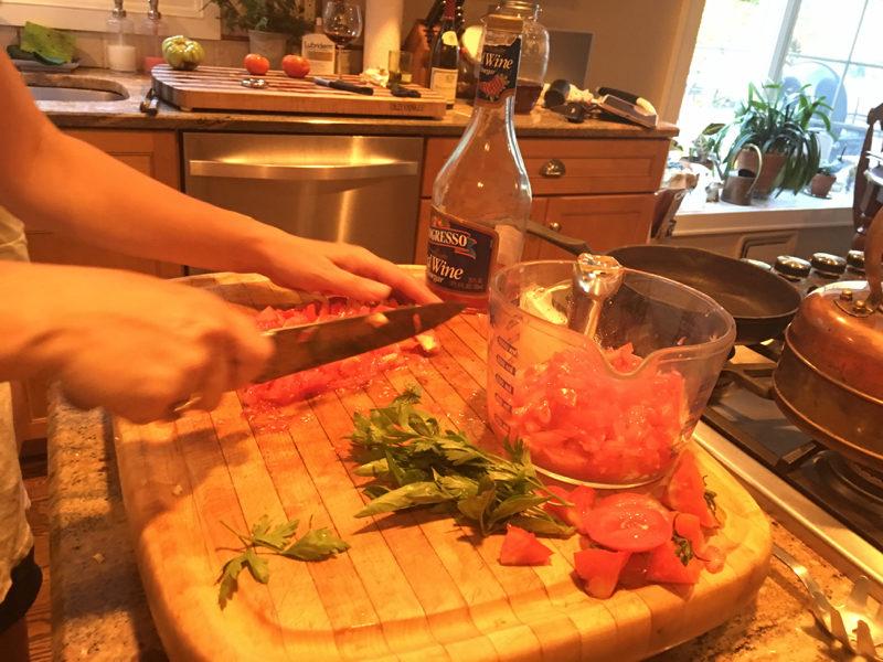 Sorta No Cook Tomato Sauce
